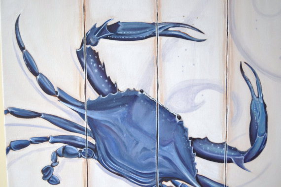 Chesapeake Blue Crab-Chesapeake Blue Crab, Chesapeake Blue Crab Painting, Annapolis Crab, Nautical Crab, Crab Wall Decor, Custom Crab, Personalized Crab, Cottage Wall Decor, Beach Crab, Seaside Crab, Fresh Seafood, Canvas Crab, Canvas Painting Crab, Cheseapeake Maryland Blue Crab, Annappolis Maryland Crab