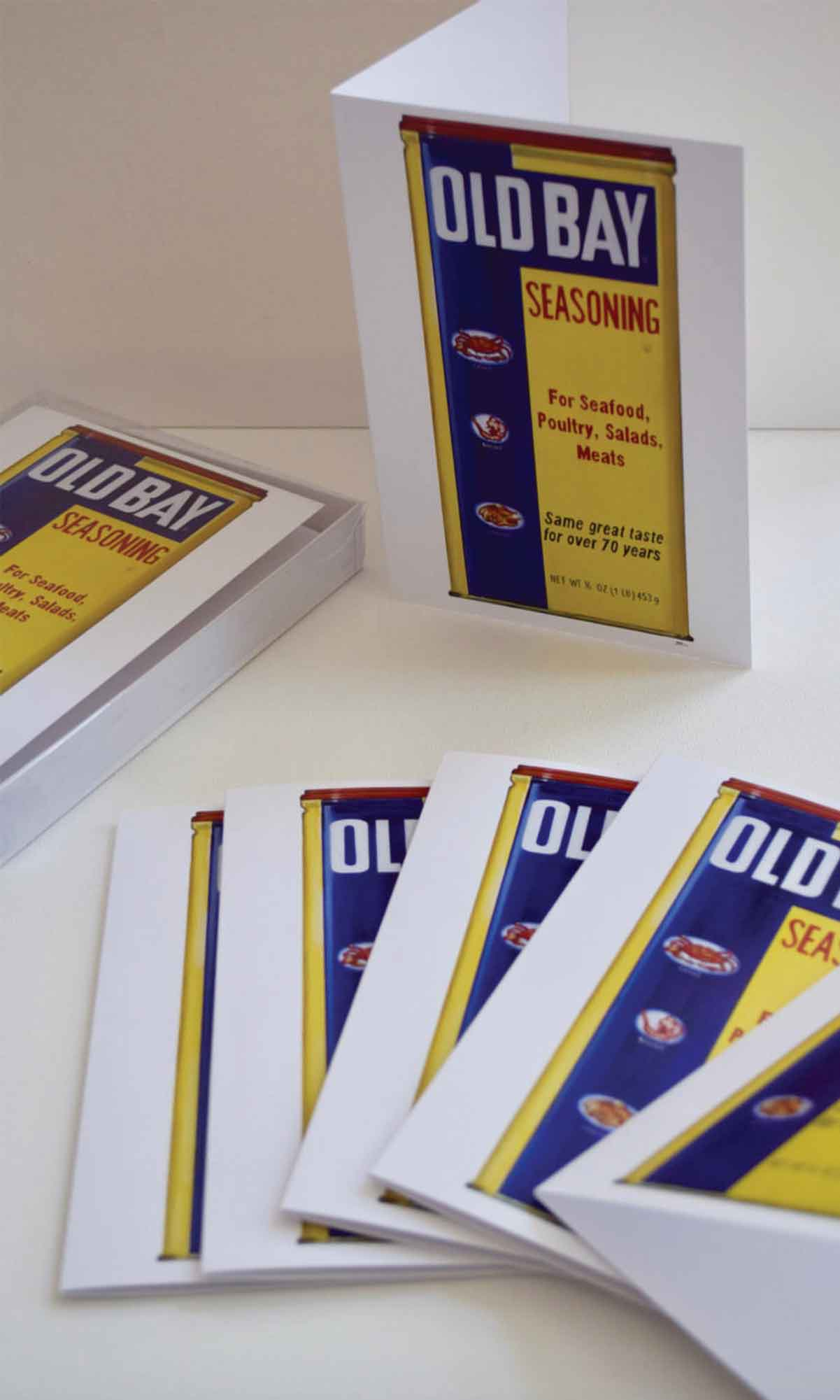 Old Bay Seasoning Stationary-Old Bay Stationary, Greeting Card, Cards, Old Bay, Annapolis, Baltimore, Crabs, Old Bay Seasoning