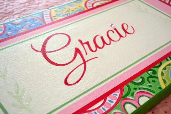 Gracie Name Canvas