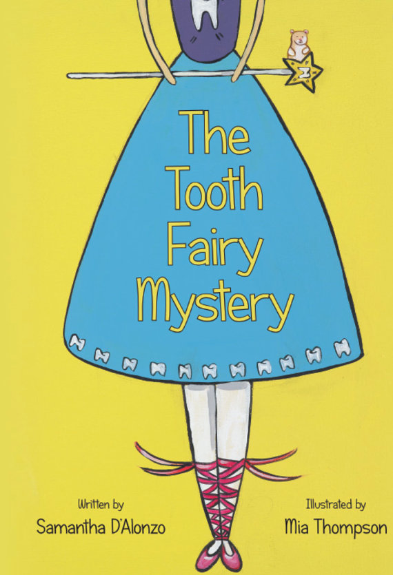 Illustrated Book-Illustrated Signed by Artist Paper Back Children's Book Lost First Tooth Gift Tooth Fairy Mystery Boy Girl Tooth Fairy Celebrate Tooth Fairy