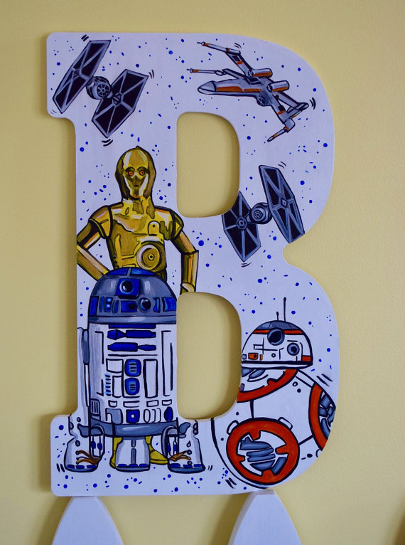 Star Wars Initial Wood Sign Galaxy Jedi The Force 3CPO R2D2 BB8 Tie Fighter XWing Initial HandPainted Star War Room Door Wall Hanging Decor-Star Wars Initial Wood Sign Galaxy Jedi The Force 3CPO R2D2 BB8 Tie Fighter XWing Initial HandPainted Star War Room Door Wall Hanging Decor