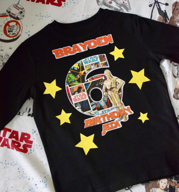 Star Wars Birthday Party Shirt-Star Wars Shirt, Star wars, Star wars birthday, Jedi Party