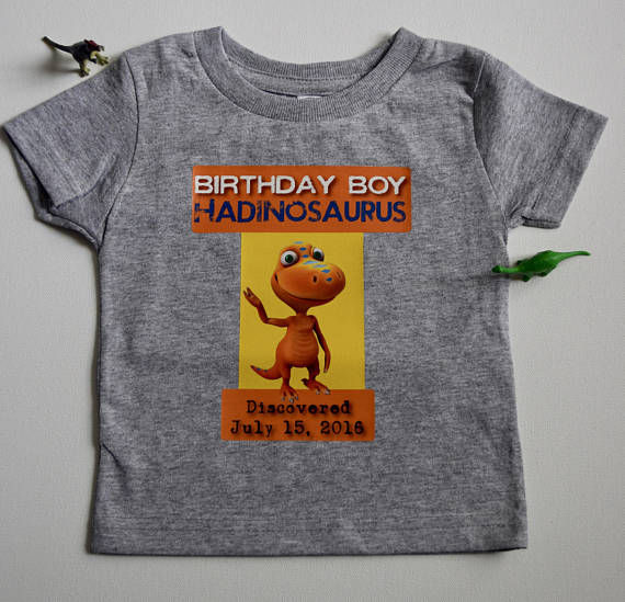 Dinosaur Train Personalized Birthday Party Shirt-Dinosaur Train Birthday Party Shirt, Custom Party Shirt, Dinosaur Train Party