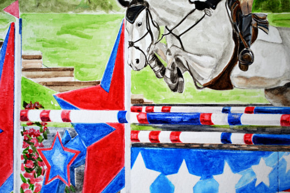 8x10 Custom Original Color Water Color from Your Favorite Photograph of Choice Turn Your Photo into a Water Color Painting-Custom Water Color, Original Water Color, Equestrian Water Color, Pet Portrait Water Color, Realistic Custom Equestrian Pet Water Color Portrait