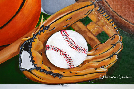 Let's Go Pro!-Sports canvas art, Custom canvas art, Nursery sports theme, nusery sports, sports nursery, children canvas, personalized, canvas sports room decor, sports wall decor