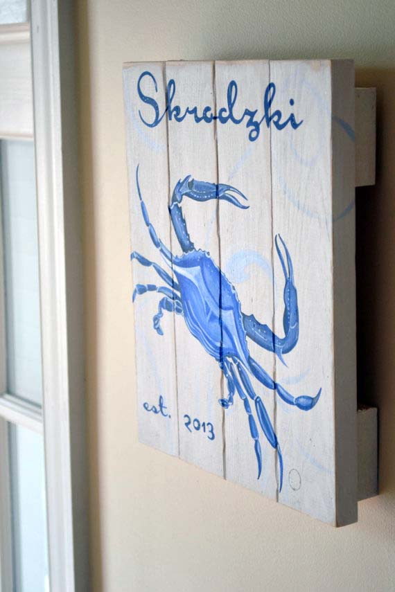 10x12.5 inch Distressd Chesapeake Blue Crab on Pine Wood-Coastal Living Decor, Chesapeake Blue Crab, Personalized crab, Maryland Crab, Annapolis crab, Summer Crab, Crab painting, Outdoor Crab Painting, Patio Decor, Wood Crab, Crab on Wood, Wood Crab Painting, Distressed Chesapeake Blue Crab, Grace Alexander Studios, Custom Crab Painting